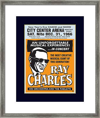 Ray Charles Framed Print by Gary Grayson