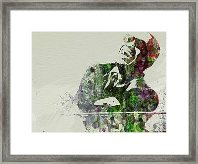 Ray Charles Framed Print by Naxart Studio