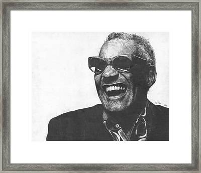 Ray Charles Framed Print by Jeff Ridlen