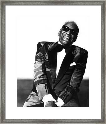 Ray Charles Framed Print by Retro Images Archive