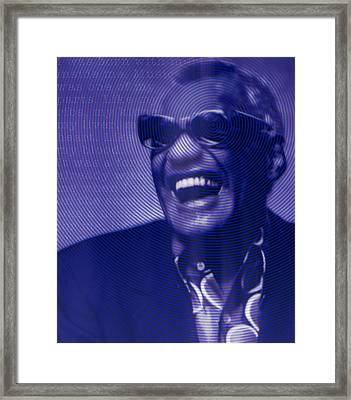 Ray Charles Robinson And Quote Framed Print by Tony Rubino