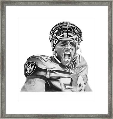 Ray Lewis Framed Print by Don Medina