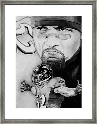 Ray Lewis Framed Print by Jason Dunning