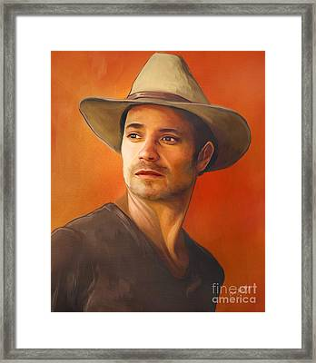 Raylan Givens  Framed Print by Dori Hartley
