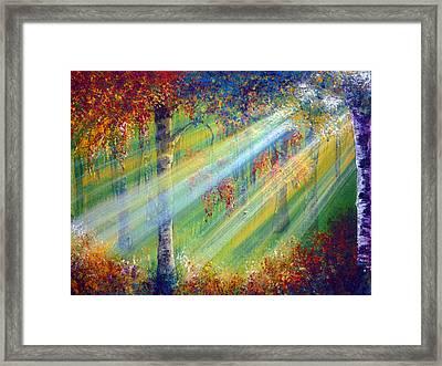 Rays Framed Print by Ann Marie Bone