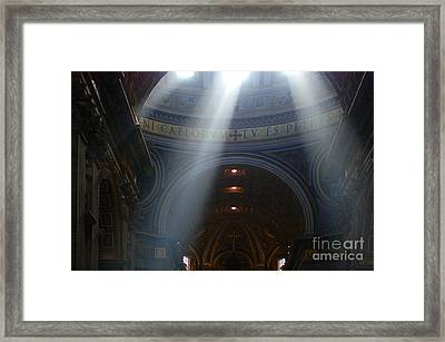 Rays Of Hope St. Peter's Basillica Italy  Framed Print by Bob Christopher