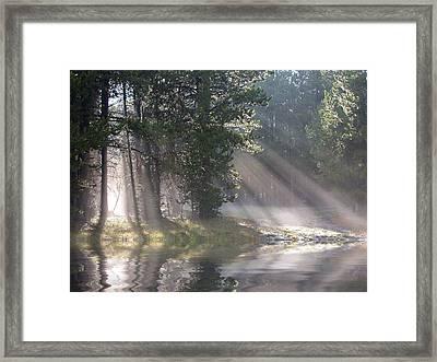 Rays Of Light Framed Print by Shane Bechler