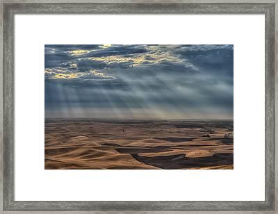 Rays On The Palouse Framed Print by Mark Kiver