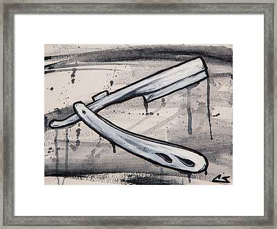 Razor Finish Framed Print by Charles Edwards