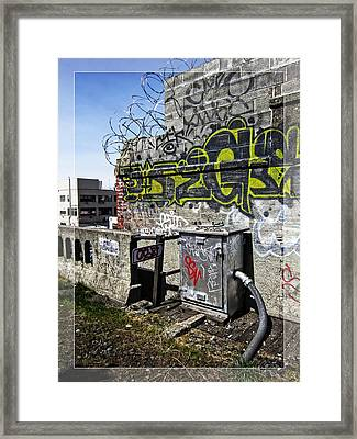 Razor Wire Framed Print by Daniel Hagerman