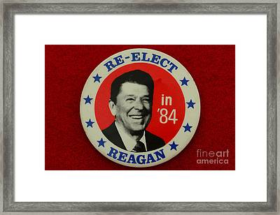 Re-elect Reagan Framed Print by Paul Ward