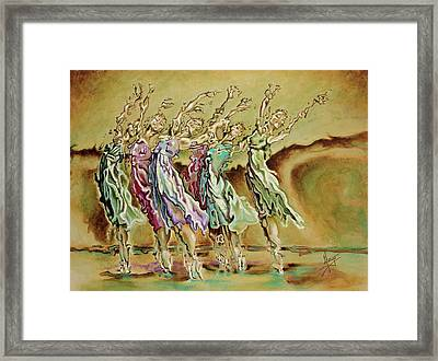 Reach Beyond Limits Framed Print by Karina Llergo