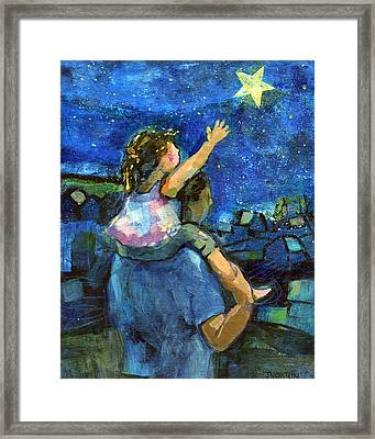 Reach For The Stars Framed Print by Jen Norton