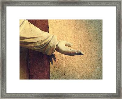 Reach Out And Touch Faith.. Framed Print by A Rey