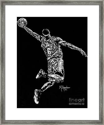 Reaching For Greatness #6 Framed Print by Maria Arango