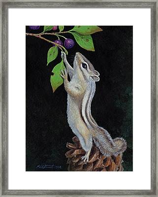 Reaching Framed Print by Mike Stinnett