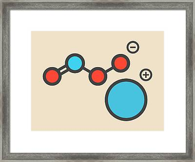Reactive Nitrogen Species Molecule Framed Print by Molekuul