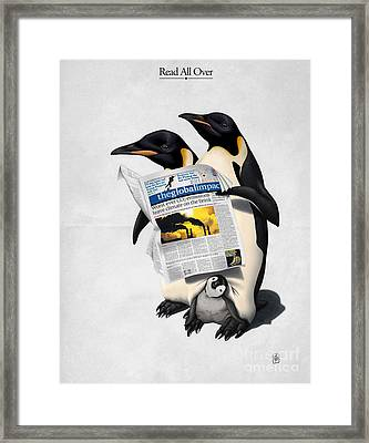 Read All Over Framed Print by Rob Snow
