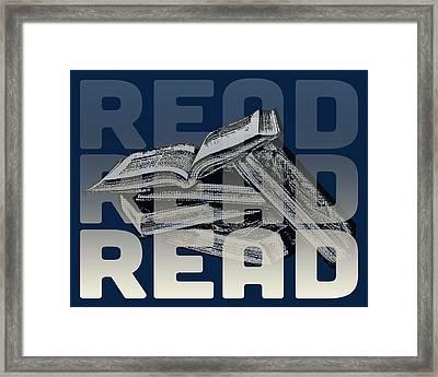 Read Books Framed Print by Flo Karp