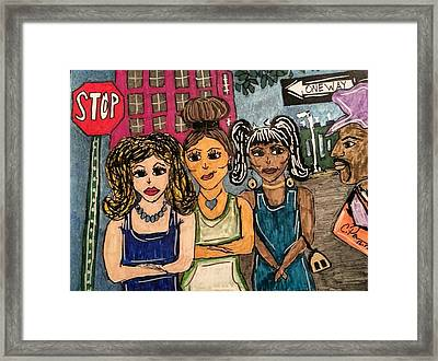 Read The Signs Framed Print by Chrissy  Pena