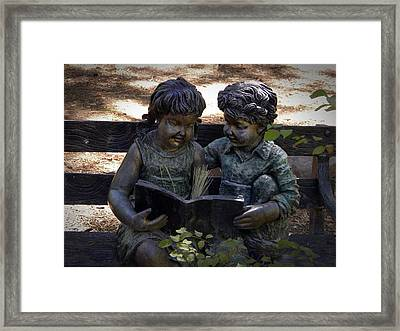 Read With Me Framed Print by Frank Wilson