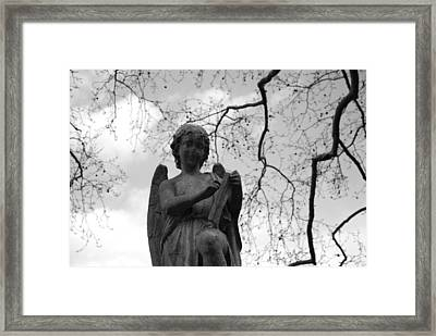Reading Angel Framed Print by Jennifer Ancker