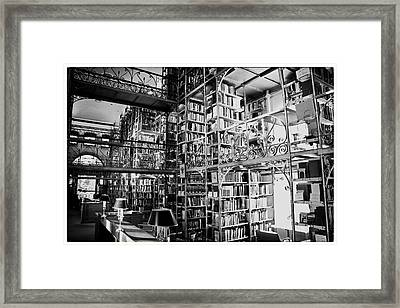 Reading Room At Cornell University Framed Print by Georgia Fowler
