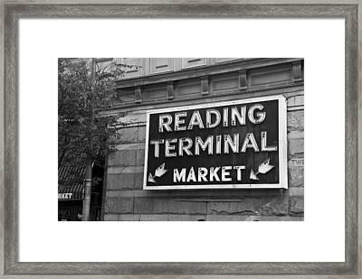 Reading Terminal Market Framed Print by Jennifer Ancker