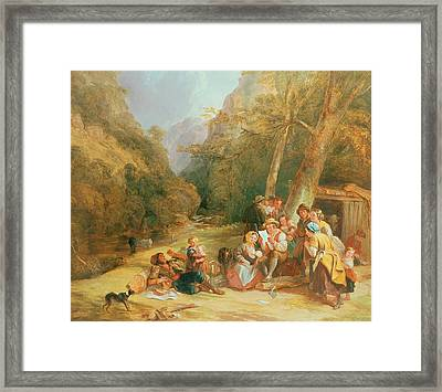 Reading The Letter Framed Print by William Frederick Witherington