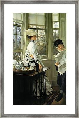 Reading The News Framed Print by Mountain Dreams