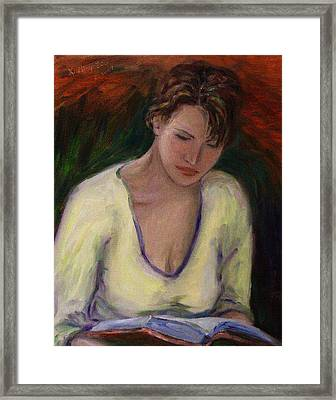 Reading Framed Print by Xueling Zou
