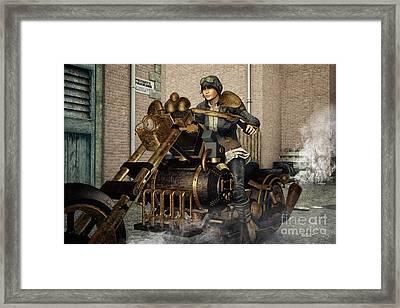 Ready For A Ride Framed Print by Jutta Maria Pusl