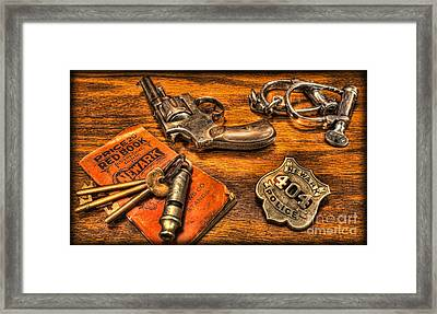 Ready For Duty - Police Officer Framed Print by Lee Dos Santos