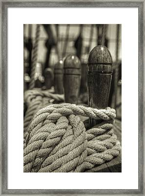 Ready For Work Black And White Sepia Framed Print by Scott Campbell