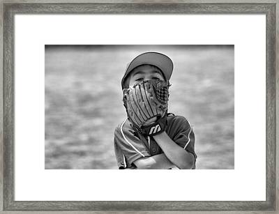 Ready Stance? Framed Print by Julia and David Bowman