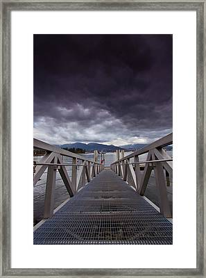 Ready To Dive Into The Storm Framed Print by Eti Reid