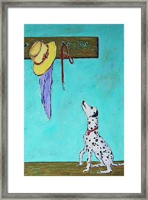 Ready To Go Out Framed Print by Xueling Zou