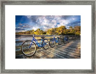 Ready To Ride Framed Print by Debra and Dave Vanderlaan
