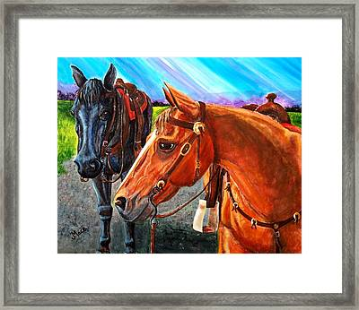 Ready To Ride Framed Print by Joan Mace