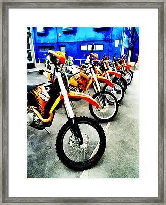 Ready To Ride Framed Print by Steve Taylor