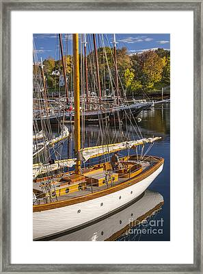 Readying For An Autumn Sail Framed Print by Brian Jannsen