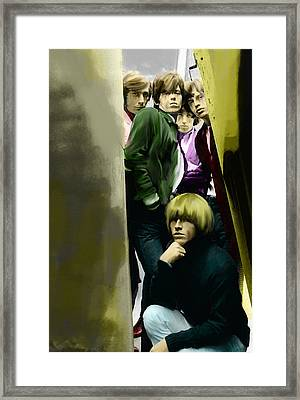 Real Exile The Brian Jones Rolling Stones  Framed Print by Iconic Images Art Gallery David Pucciarelli