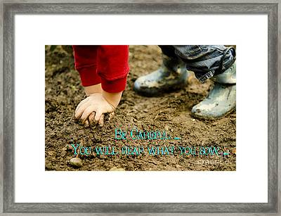 Reaping And Sowing Framed Print by MaryJane Armstrong