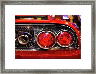 Rear Of A Falcon F7 Framed Print by Jim West