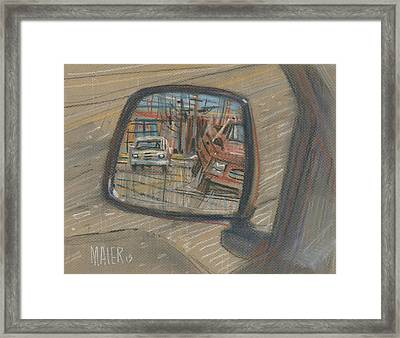 Rear View Framed Print by Donald Maier