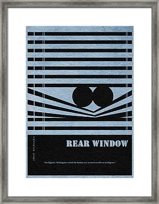Rear Window Framed Print by Ayse Deniz