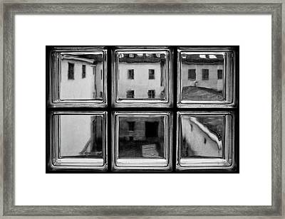 Rear Window Framed Print by Roswitha Schleicher-schwarz