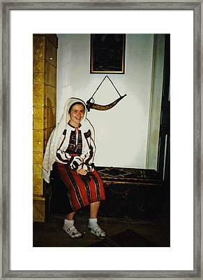 Rebekah In Romania Framed Print by Sarah Loft