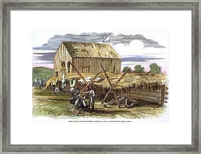 Rebel Hospital, 1862 Framed Print by Granger