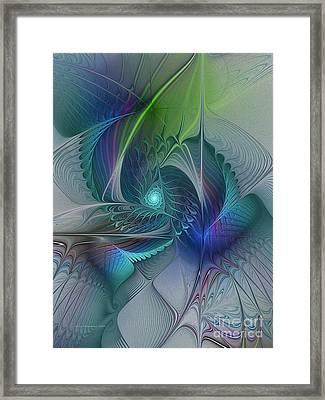 Rebirth-fractal Art Framed Print by Karin Kuhlmann